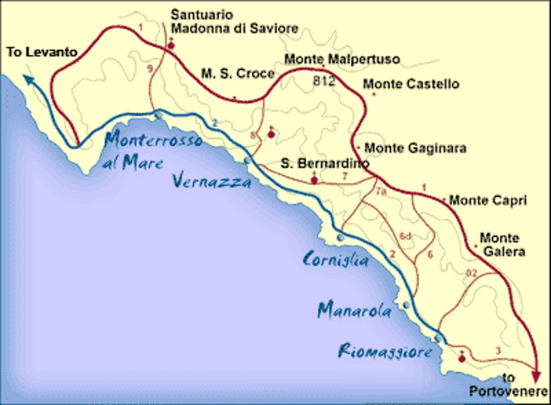 Exceptionnel CINQUE TERRE – National Park and Protected Marine Area  IT31